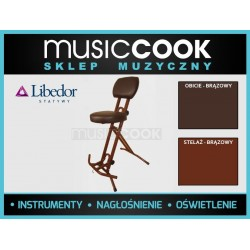 Libedor TGBR, krzesło gitarzysty, podwójna gąbka, lecznicze siedzisko