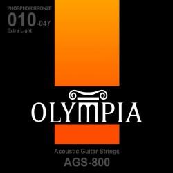 OLYMPIA AGS-800 struny do gitary akustycznej 10-47