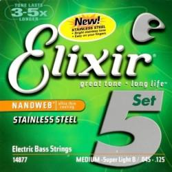 Elixir 14877 NanoWeb Stainless Steel 45-125