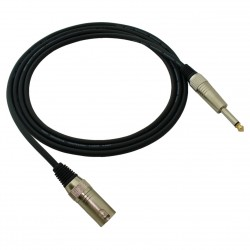 Red's MC 13100 - kabel mikrofonowy STANDARD 10m XLR męski/Jack 6,3 mm mono