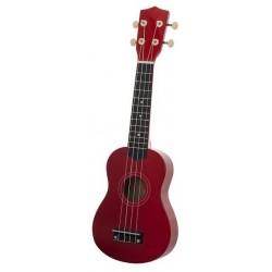 Ever Play UK-21 ukulele sopranowe, czerwony połysk