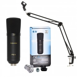 NOVOX NC - 1 mikrofon pojemnościowy USB zestaw: NC-1 + statyw Kaline + POP filtr