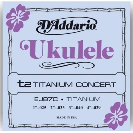 D Addario EJ87C Titanium Concert struny do ukulele
