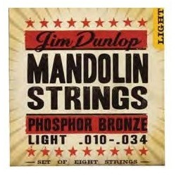 Jim Dunlop DMP 1034 Light Phosphor Bronze Mandolin struny do mandoliny .010-.034