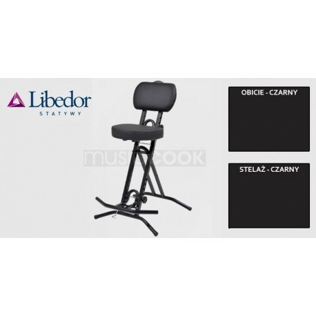 Libedor TGBK, krzesło gitarzysty, podwójna gąbka, lecznicze siedzisko