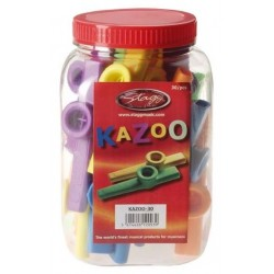 Stagg KAZOO 30 - kolorowe kazoo, 30 szt.