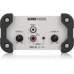 Pasywny di-box stereo in/ mono out Klark Teknik DI10P
