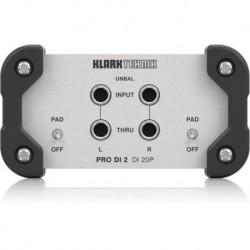 Pasywny di-box stereo in/out Klark Teknik DI20P