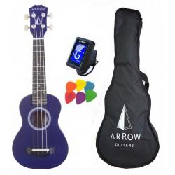 Arrow Arrow PB10 GR Soprano Green - ukulele sopranowe z pokrowcem