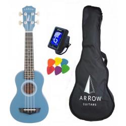 Arrow Arrow PB10 BL Soprano Blue - ukulele sopranowe z pokrowcem