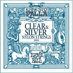 Struny Ernie Ball Ernesto Palla Nylon Classical Clear & Silver (2403)