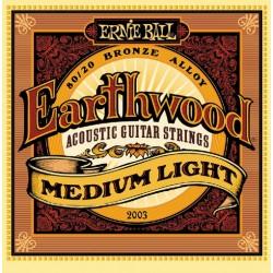 Struny Ernie Ball Earthwood Medium Light Acoustic 80/20 Bronze 12-54 (2003)