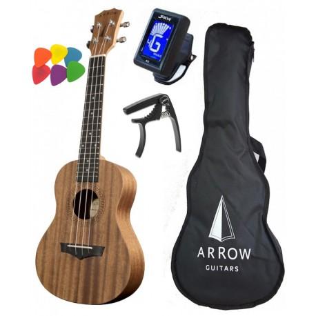 ARROW MH10 ukulele koncertowe - POKROWIEC + TUNER + KOSTKI + KAPODASTER GRATIS!