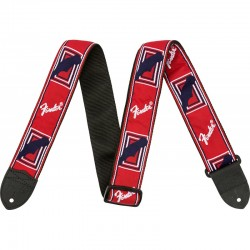 "Fender 2"" Monogrammed Strap, Red/White/Blue - pasek do gitary"