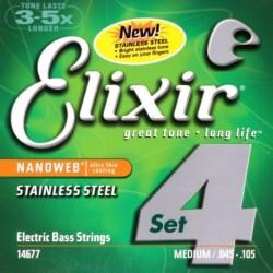 Elixir 14677 NanoWeb Stainless Steel 45-105