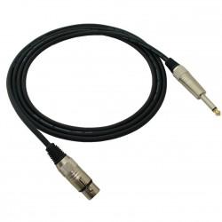 Red's MC 1250 - kabel mikrofonowy STANDARD 5m XLR żeński/Jack 6,3 mm mono