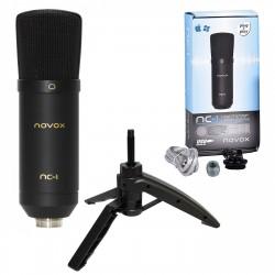 NOVOX NC - 1 mikrofon pojemnościowy USB zestaw: NC-1 + statyw biurkowy
