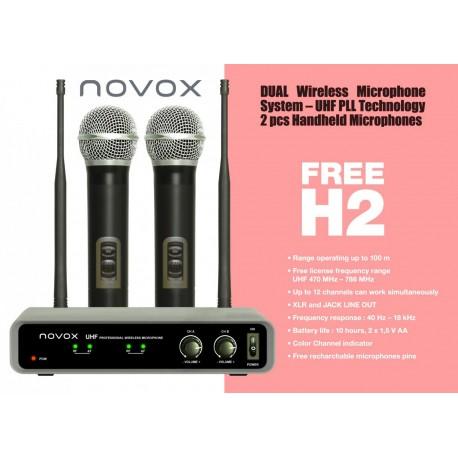 NOVOX FREE H2 zestaw bezprzewodowy: 2 mikrofony do ręki