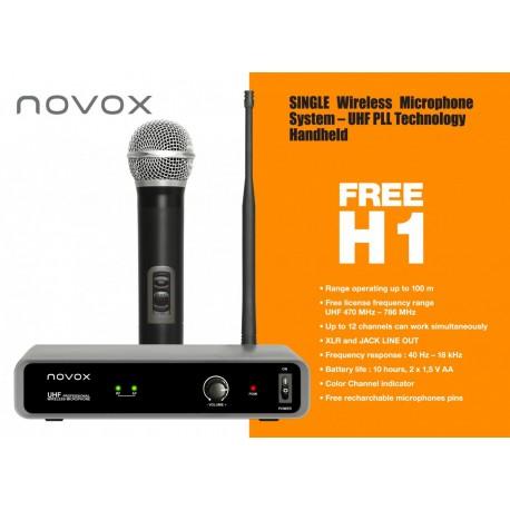 NOVOX FREE H1 zestaw bezprzewodowy: 1 mikrofon do ręki