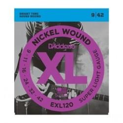D Addario EXL120 struny do gitary elektrycznej 9-42