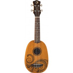 Luna Mahogany Tattoo Soprano Pineaple - ukulele