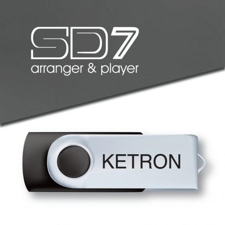 Ketron Pendrive 2016 SD7 Style Upgrade v4 - pendrive z dodatkowymi stylami