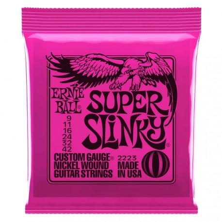 Ernie Ball 2223 NC Super Slinky struny do gitary elektrycznej 9-42